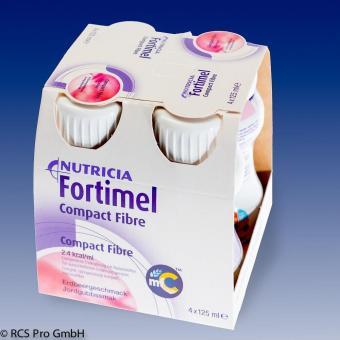 Fortimel Compact FIBRE 8x4x125ml Erdbeere