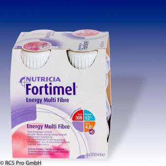 Nutricia Fortimel Energy MULTIFIBRE Erdbeer 8x4x200ml