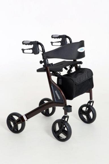 rollator leichtgewicht aladdin h sitzh he 60 cm braun gehhilfen zubeh r. Black Bedroom Furniture Sets. Home Design Ideas