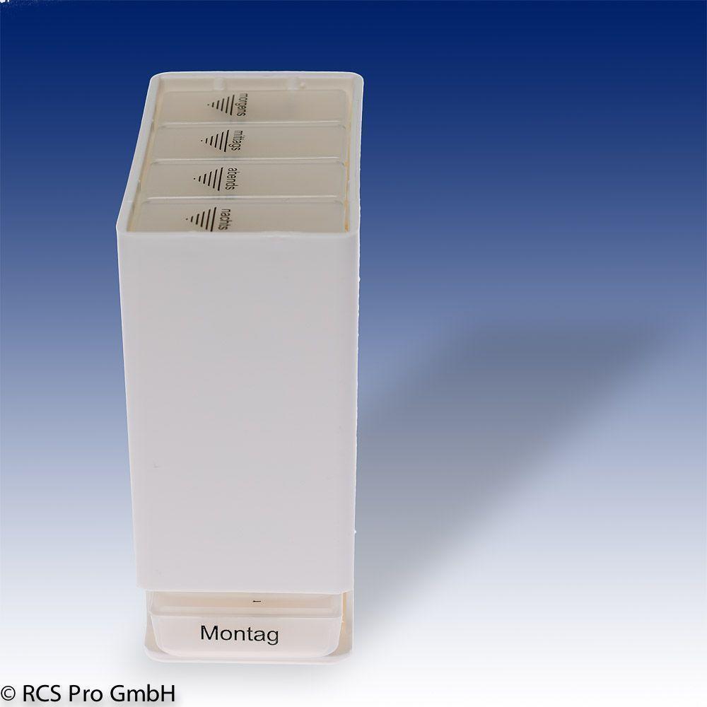 medikamentenbox f r 1 woche wei medizindispenser. Black Bedroom Furniture Sets. Home Design Ideas